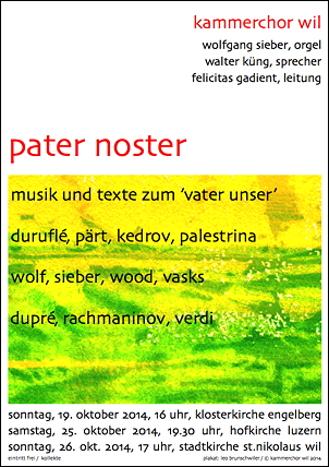 Pater noster text